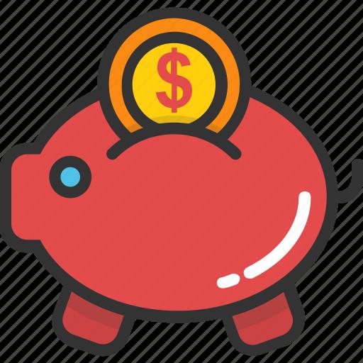 banknote, cash, money, piggy bank, savings icon