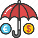 cash flow, expenses, money fall, money rain, spending money icon
