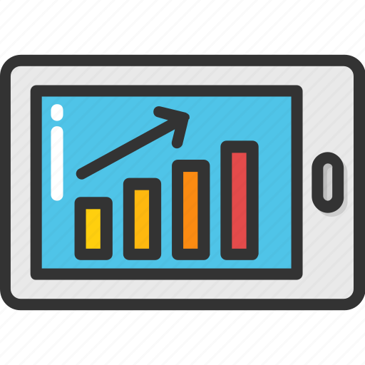 android, digital marketing, mobile app, mobile graph, mobile ui icon