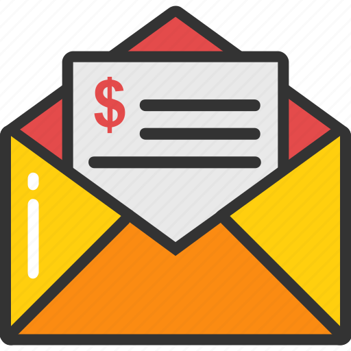 account statement, bank letter, business letter, business mail, payment request icon