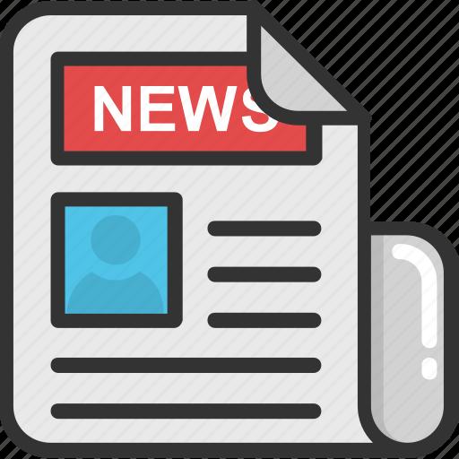 article, blog, newspaper, press, print media icon