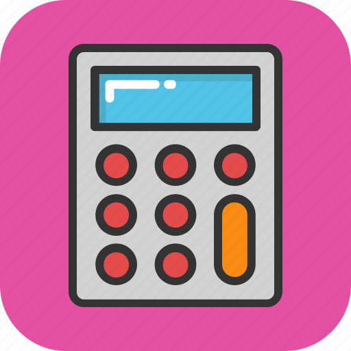 accounting, calculation, calculator, maths, office supplies icon