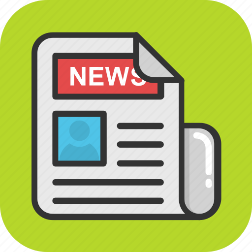 Article, blog, newspaper, press, print media icon - Download on Iconfinder