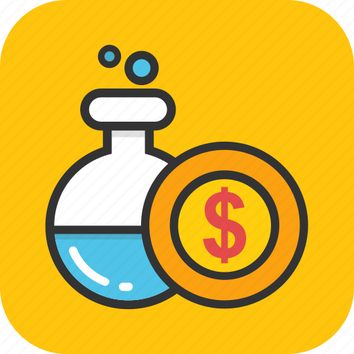 business experiment, finance laboratory, financial alchemy, money generating, money lab icon