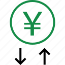 arrow, business, down, up icon