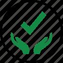 check, hands, mark icon