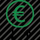 down, interest, rate, revenue icon