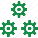 business, gear, web icon