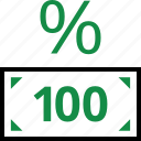 hundred, one, rate, revenue icon