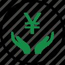 business, money, rich, yen icon