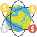 currency transfer, financial network, global money transfer, global transactions, send money icon
