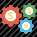 economy process, finance management, investment concept, money option, wealth mechanism icon