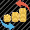 banking, dollar process, financing, money circulation, trading icon