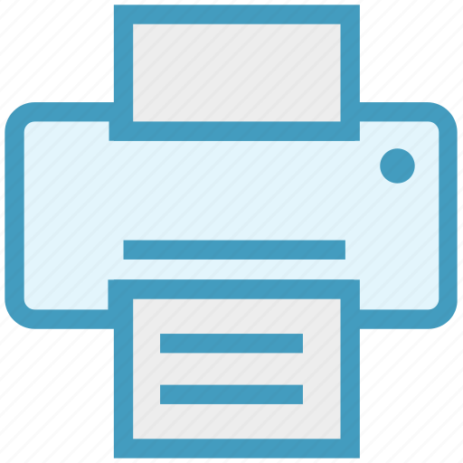 business, fax, finance, office, print, printer, printing icon