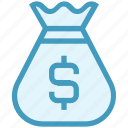 bag, coins bag, currency sack, dollar, dollar sack, finance, money icon