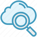 business, cloud, finance, find, magnifier, searching, view