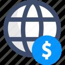 dollar, finance, global economy, globe, money
