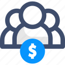 dollar, group, people, team, users