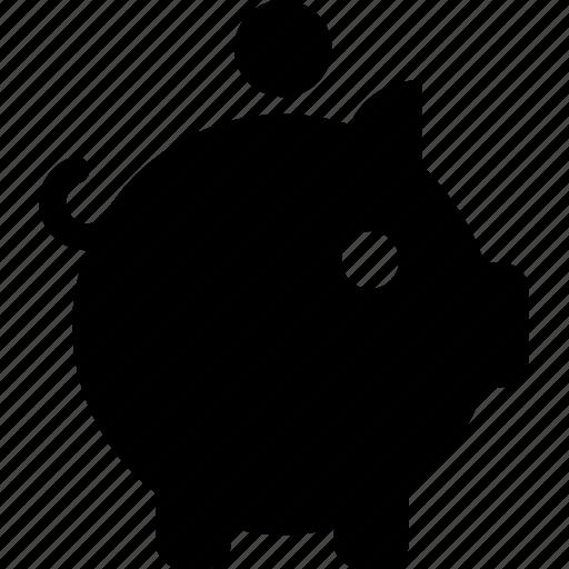 bank, coin, finance, piggy, savings icon