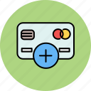 add, card, credit, finance, new, payment icon