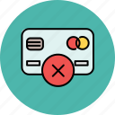 cancel, card, credit, delete, finance, payment icon