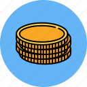 cash, coin, finance, money, payment, stack
