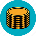 cash, coin, finance, money, payment, stack icon