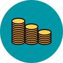 cash, coin, finance, money, payment, stacks icon