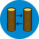 coin, exchange, finance, money, payment, stacks icon