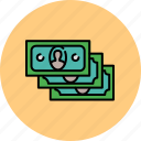 cash, duplicate, finance, money, multiple, payment icon
