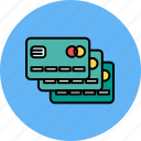 cards, credit, duplicate, finance, multiple, payment icon