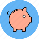 animal, bank, finance, payment, piggy icon