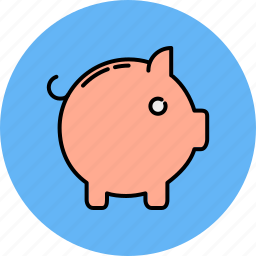 animal, bank, finance, payment, piggy icon