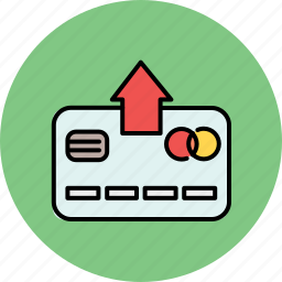 arrow, card, credit, extract, finance, remove, up icon