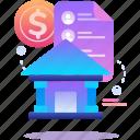 bank, data, finance, money icon