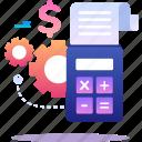 calculator, finance, invoice, service