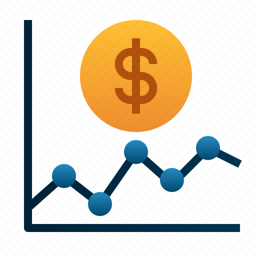 analytics, dollar, financial, graph, money, stats icon