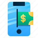 business, digital, finance, mobile, payment, phone icon