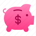 business, deposit, finance, money, pig icon