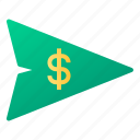 bank, business, finance, money, send, transfer icon