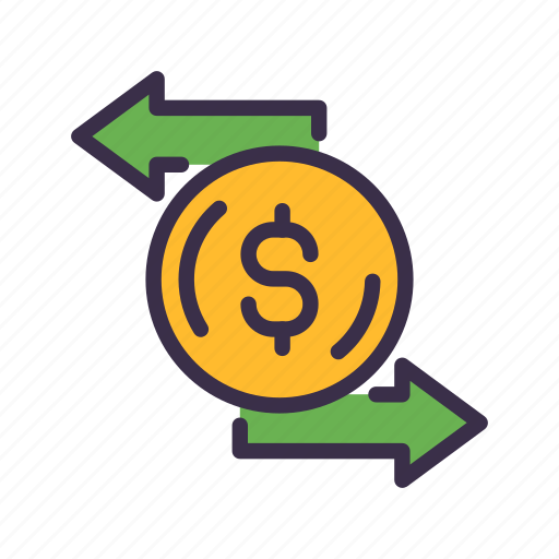 business, coin, dollar, exchange, finance, financial, money icon