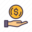 business, coin, finance, financial, loan, money, payment icon