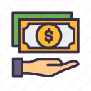 bank, business, cash, dollar, finance, financial, loan, money icon