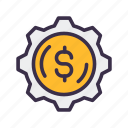 financial, making, money icon