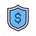 finance, financial, money, protected, safe, safety icon