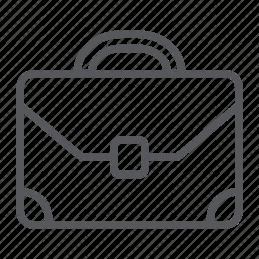 bag, baggage, briefcase, business, case, handle, office icon