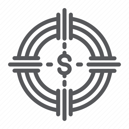 Banking, currency, finance, funds, hunting, money, target icon - Download on Iconfinder