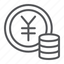 banking, coin, currency, finance, money, sign, yen
