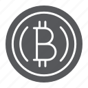banking, bitcoin, coin, crypto, cryptocurrency, finance icon