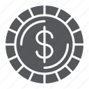 cent, coin, dollar, finance, money, sign